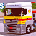 Skins Mercedes Benz Axor Shell + Carreta Tanque Bitrem