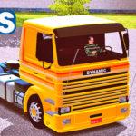 Skins Scania 113 Frontal Com Faixas Originas Laranja