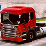 "Skins Scania P310 Vermelha ""QUALIFICADO"""