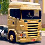 Skins Scania R620 Pintura Especial Amarela Queimada