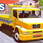 """Skins Mercedes Benz 1620 Amarelo Com Detalhes Azul """"QUALIFICADO"""""""