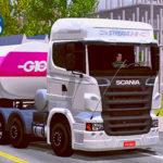 Skins Scania R Streamline + Carreta Bitrem G10