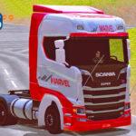 Skins Scania S Transportadora Marvel