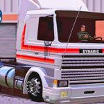 Skins Scania 113 Frontal Branca Com Faixas Vermelhas 'EXCLUSIVA'