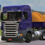 Skins Scania R Roxa na Carretinha 2 Eixos
