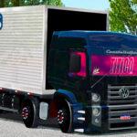 Skins VW Constellation Bitruck no Bau 'QUALIFICADO'