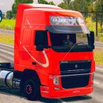 Skins Volvo FH Vermelho Com Faixa Branca 'QUALIFICADO'