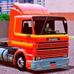 Skins Scania 113 Frontal Laranja Estilo Original