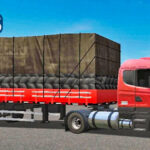 Skins Scania 124G Vermelha 'EXCLUSIVA NA CARRETA 2 EIXOS'