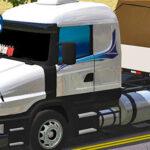 Skins Scania G124 Com Faixas Decorativa Na Carretinha 2 Eixos