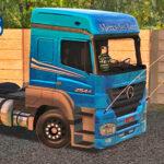 Skins Mercedes-Benz Axor Azul Com Faixas 'EXCLUSIVO'