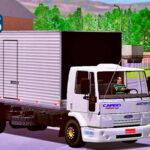 Skins Ford Cargo Branco no Bau Truck