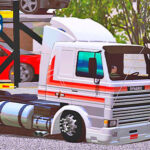 Skins Scania 113 Frontal Branca Tegma Com Faixas Vermelhas
