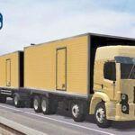 Skins VW Constellation Truck no Bau Romeu e Julita Bege