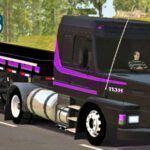 Skins Scania 113 Black na Carretinha 2 Eixos 'QUALIFICADA'