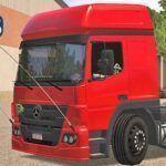 Skins Mercedes-Benz Atego Vermelho Com Rodas Personalizadas