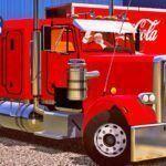 Skins Caminhão Americano Peterbilt No Bau Especial de Natal
