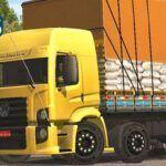 Skins VW Constellation Amarelo Com Detalhes na Carroceria