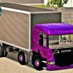 Skins Scania P310 Bitruck No Bau Roxa 'EXCLUSIVA'