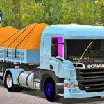 Skins Scania Pzinha Azul TOP Na Carretinha 2 Eixos