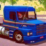 Skins Scania 113 Azul Com Faixas Laranja 'EXCLUSIVA'