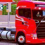 Skins Scania R Streamline Vermelha 'QUALIFICADA'