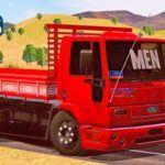 Skins Ford Cargo Vermelho Truck 'QUALIFICADOS COM RODAS PRETA'