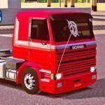 Skins Scania 113 Frontal Vermelha Com Faixas Original