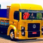Skins VW Constellation Amarelo Com detalhes azul Carroceria TOP