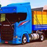 Skins Scania S Azul Com Graneleira e Rodas Qualificadas