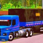 Skins Scania 113 Azul Clássica Com Faixas na Carreta Bitrem