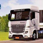 Skins Mercedes Benz Actros Branco na Carreta Bitrem