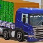 Skins Scania Pzinha Azul Escuro 'Verdureiro'