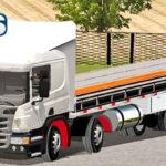 Skins Scania Pzinha Branca Com Carroceria em Detalhes Preto