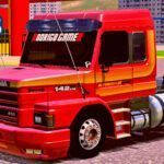 Skins Scania 142H Vermelha Com Faixas Originais 'MAIS TOP DO WTDS'