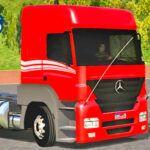 Skins Mercedes Benz Axor Vermelho Com Faixas TOP!