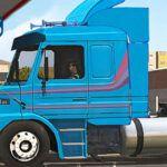 Skins Scania 113 Azul Clássica Com Faixas Originais