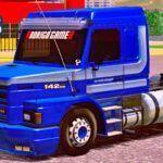 Skins Scania 142H Azul Com Faixas Originais 'MAIS TOP DO WTDS'