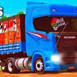 Skins Scania S Na Carretinha 2 Eixos 'MAIS QUALIFICADA'