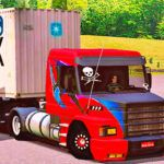 Skins Scania 113 Grafitada TOP + Carreta Container