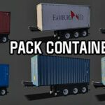 Skins Reboque Container 'MEGA PACK COM VÁRIOS CONTAINER'