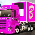 Skins Scania R Rosa B BELLAVER 'QUALIFICADO'