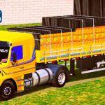 Skins Scania 113 Amarela na Carretinha Qualificada 2 EIXOS