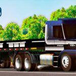 Skins Scania 113 Preta INTERCOOLER NA CARRETA GRANELEIRA 'MUITO TOP'