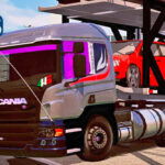Skins Scania Pzinha Cinza Com Vidros Personalizados 'MAIS TOP WTDS'