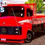 Skins Mercedes Benz 1313 Vermelho Com Faixas 'MAIS QUALIFICADO VERDUREIRO'