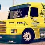 Skins Scania 113 AMARELA 'MERCADO LIVRE'