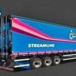 Skins Reboque Sider azul Especial Scania Streamline 60 anos