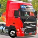 Skins Volvo FH Vermelho Com Frente preta 'TOP'