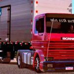 Skins Scania 113 Frontal Vermelha no Bau 'QUALIFICADA'